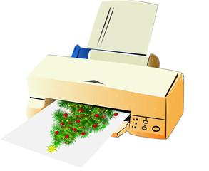 Stampante natalizia