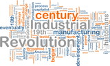 Industrial revolution word cloud poster