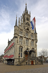 Medieval Town Hall in Gouda Netherlands
