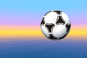 Fußball in der Abendsonne