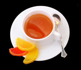 Tea cup and Fruit candy