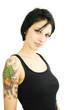 Sexy jugendliches Mädchen mit Tattoos