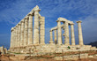 Ruins of Ancient Greek Temple of Poseidon in Greece