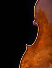 vintage violin over dark background