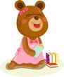 teddybear reading a book