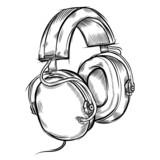 Fototapety Hand-drawn headphones