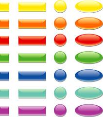 pulsanti 3D in sette colori