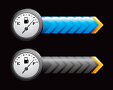 gas icon blue and black arrows poster