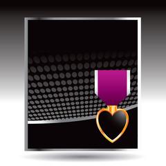 military medal black halftone banner