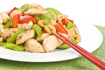 Stir Fried Chicken with Cashews and Vegetables