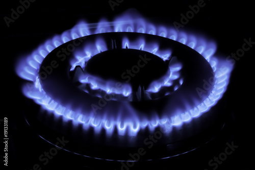 natural gas flame - fiamma di gas naturale