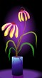 Digital   painting  of  flower vase