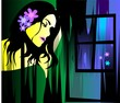 Digital   painting  of  girl