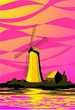 Digital   painting  of  windmill