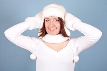 white christmas girl