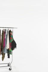 Clothes on a rail, copyspace