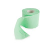 Green roll of toilet paper isolated on white