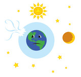 earth with broken ozone layer poster