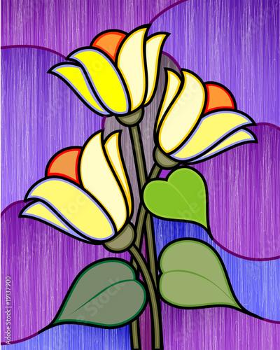 Obraz na Szkle Digital painting flower