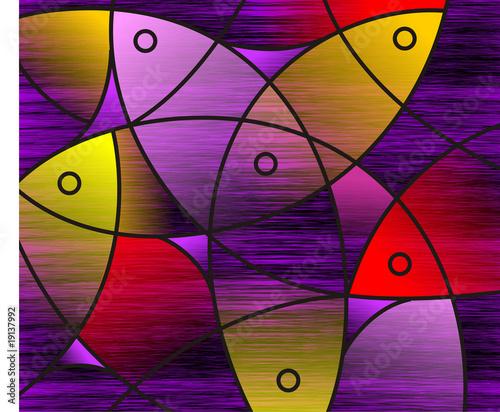 Digital   painting  fish design