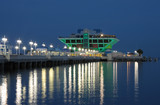 Pier in St. Petersburg at night, Florida USA poster