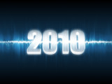 Waveform new year background