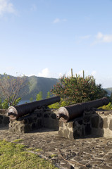 old canons fort hamilton bequia st. vincent and the grenadines