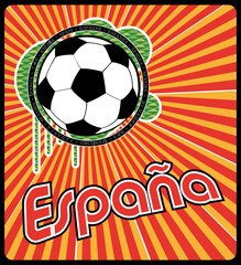 cartel españa football