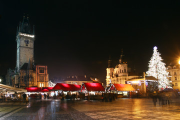 Prague - Staromestske square with Christmas trade