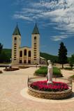 Medugorje church in Bosnia Herzegovina poster