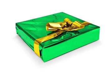Geschenkpaket gruen