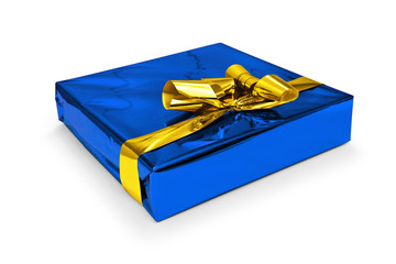 Geschenkpaket blau
