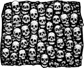 Wall of skulls.