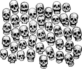 Multiple Skulls.