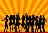 Dancing in nightclub poster