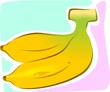 Illustration of two bananas