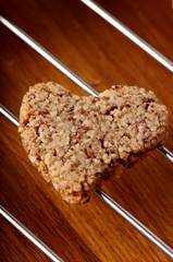 a little hear almond cookie