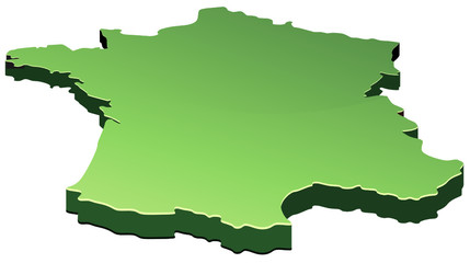 France verte 3D (détouré)