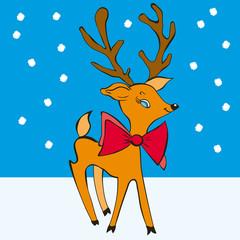 Rudolph reindeer Vector illustration
