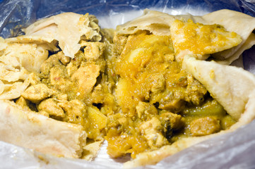 dahl pouri roti   trinidad and tobago