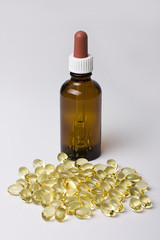 Braunglasflasche Omega-3