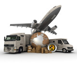 Fototapety Transportation logistics