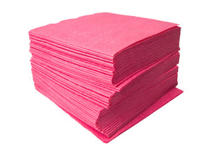 Table napkins from a paper of pink colour