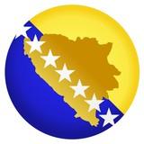 button Bosnia and Herzegovina poster
