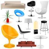 Fototapety interior objects big set