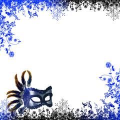 Maschera di carnevale blu