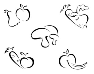 vegetables symbols