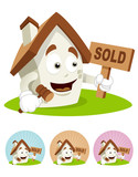 House Cartoon Mascot - Sold poster