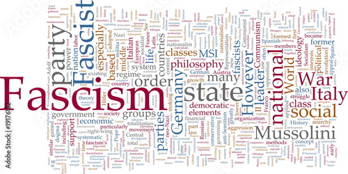 Fascism word cloud