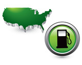 gas icon by green united states icon poster